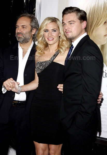Sam Mendes (Kate's husband and director), Kate and Leo.
