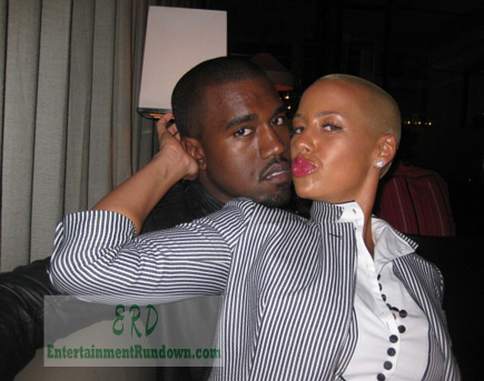 amber rose and kanye west kissing. Amber Rose Kanye West