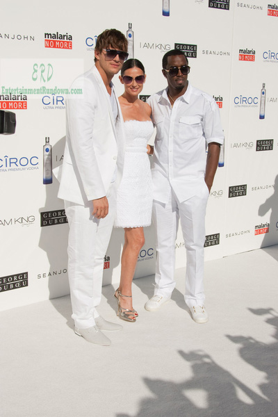 "Ashton Kutcher, Demi Moore and Sean ""Diddy"" Combs"