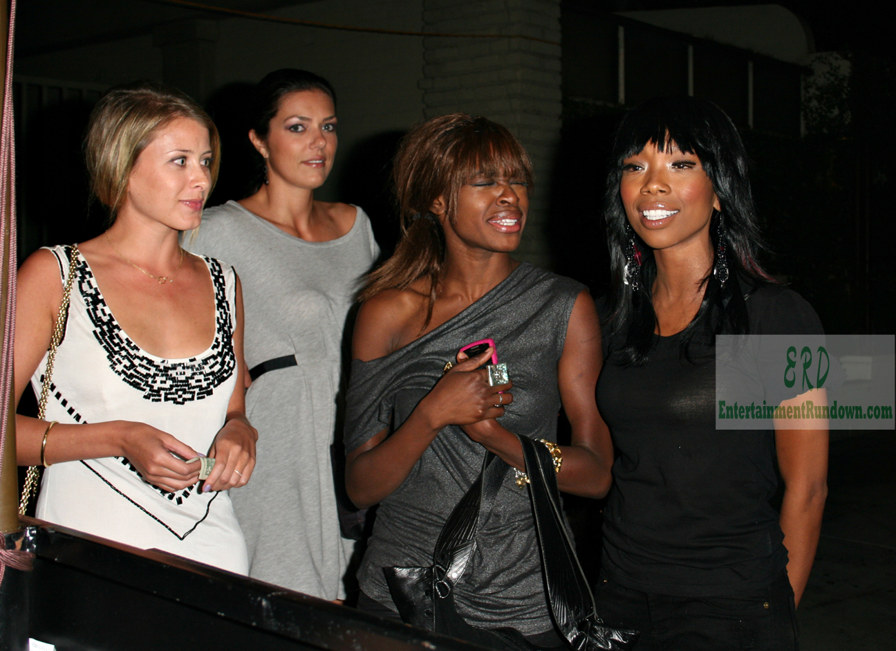 Brandy was spotted out with