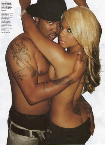 Flicks from Vibe's final issue featuring The Dream and Christina Milian.