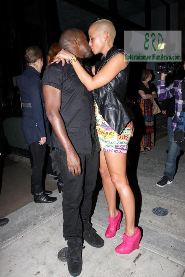 Kanye West And Amber Rose's Night Out | Entertainment Rundown Kanye West