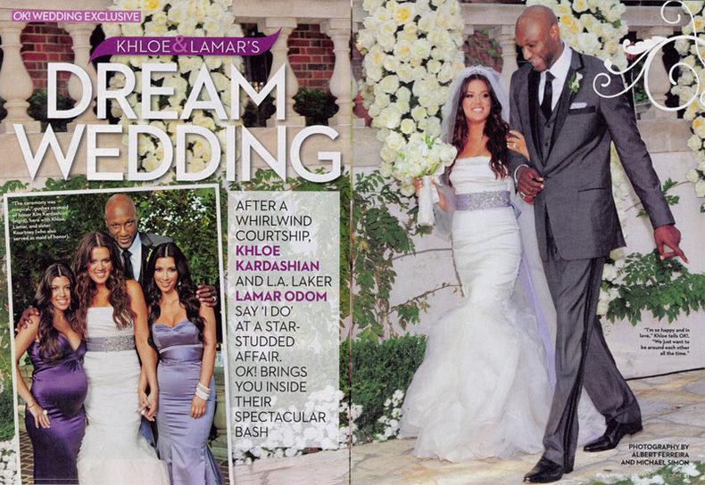 Khloe Lamar Odom OK! Wedding 13