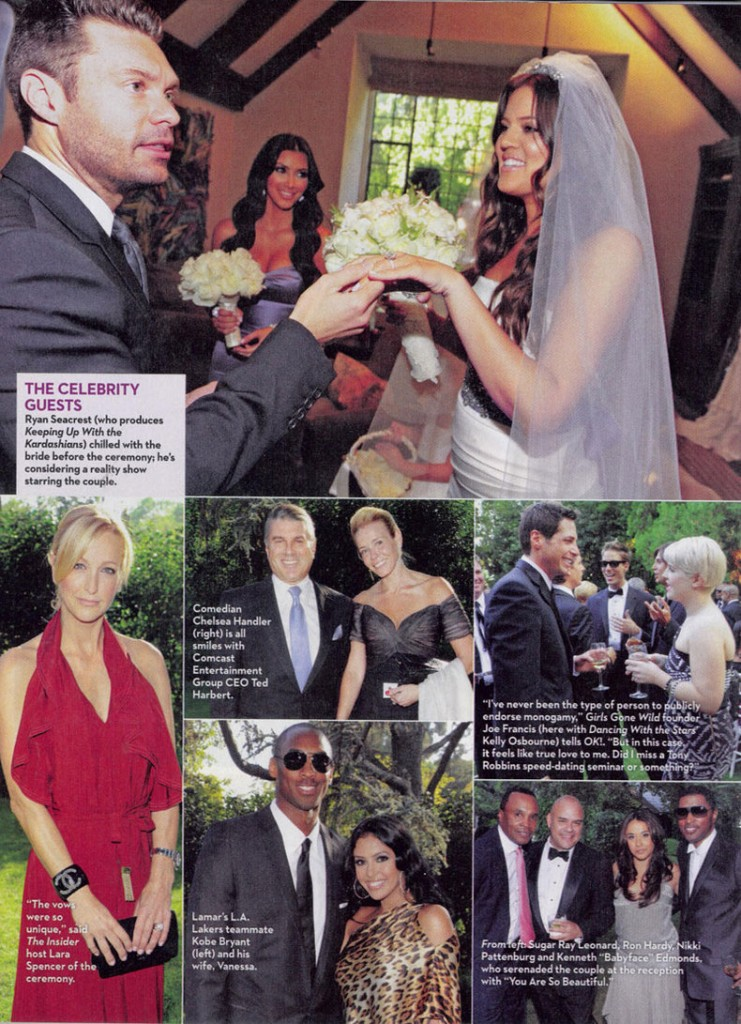 Khloe Lamar Odom OK Wedding 2 The rest of the spread after the jump