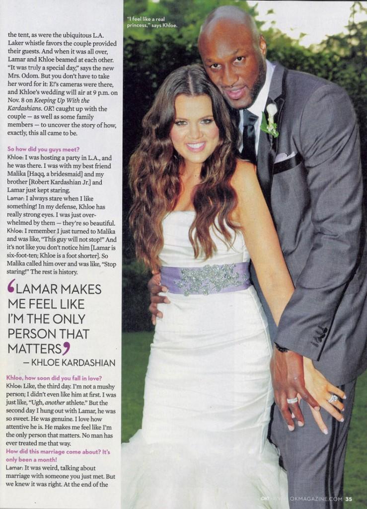 Khloe Lamar Odom OK! Wedding 8
