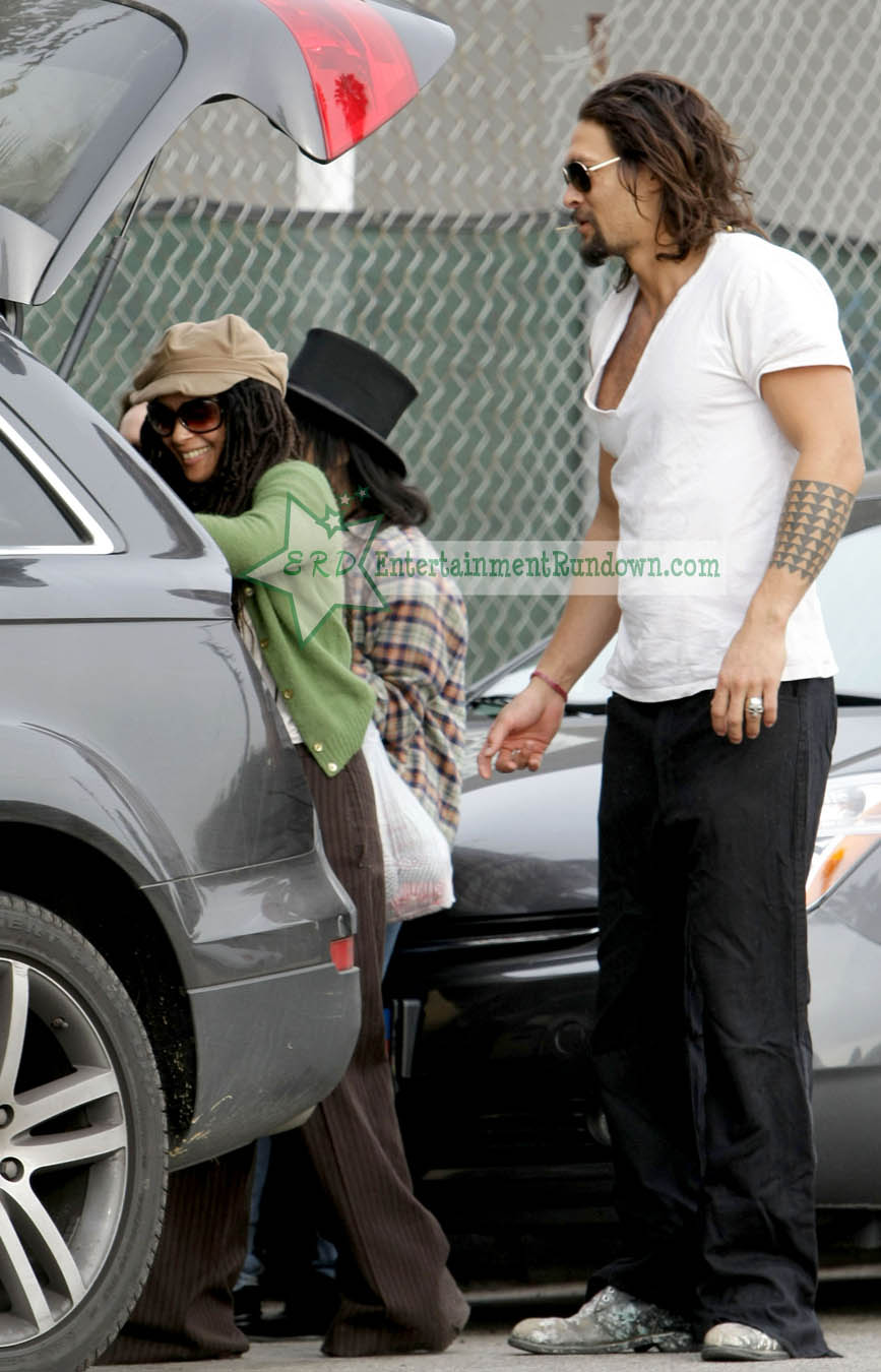 Sighting Lisa Jason Momoa Zoe Kravitz Entertainment