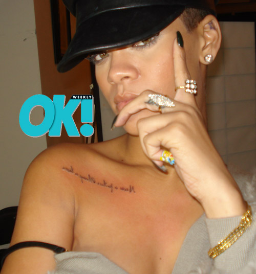 rihanna tattoo pictures. Rihanna New tattoo 4