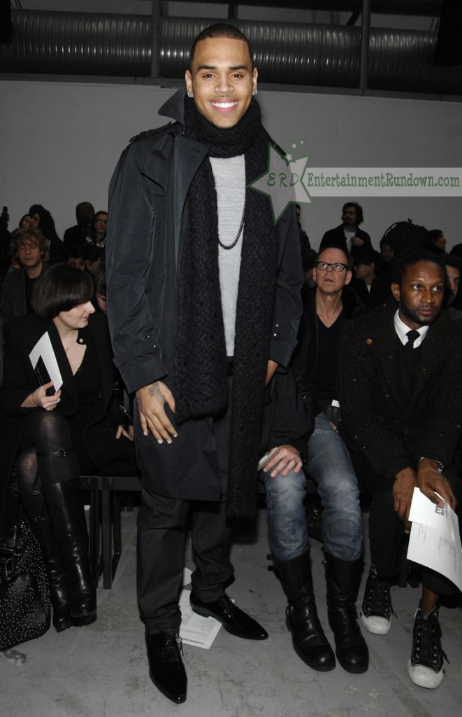Chris brown attends fashion week in italy entertainment Chris brown fashion style online