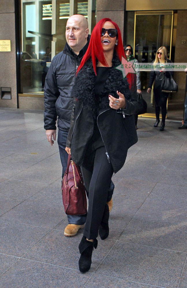 rihanna pictures red hair. Not a fan of the the red hair