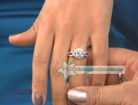 Peep the video and close up of her engagement ring, after the jump