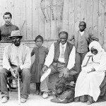 Harriet Tubman far left, with slaves she helped rescue, during the American Civil War.