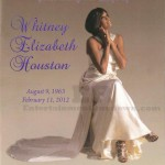 Whitney Houston Funeral Program Cover