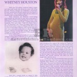 Whitney Houston Funeral Program Page 1