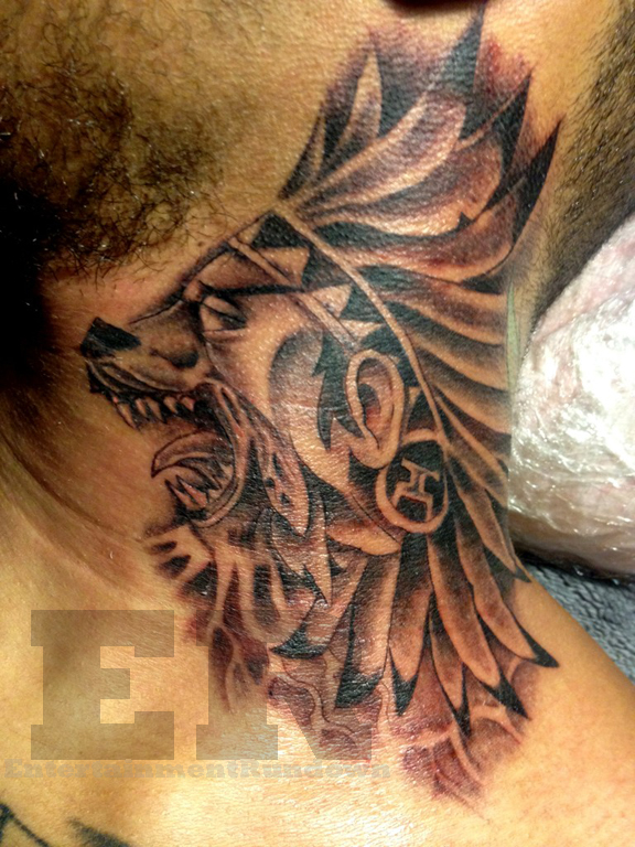 Chris Brown Neck Tattoo