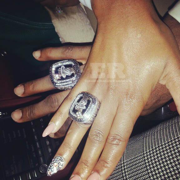 LeBron James Savannah Brinson Championship Rings