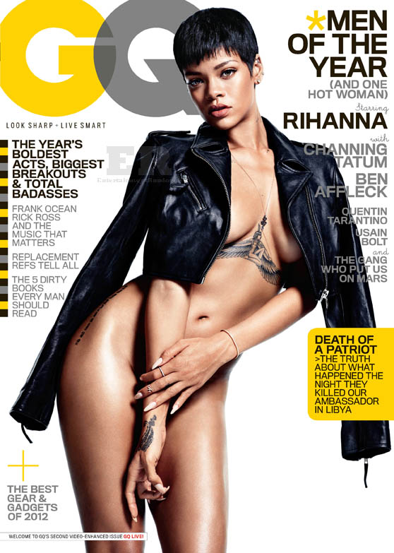 Rihanna GQ December 2012 Hi Res Men Of The Year Cover