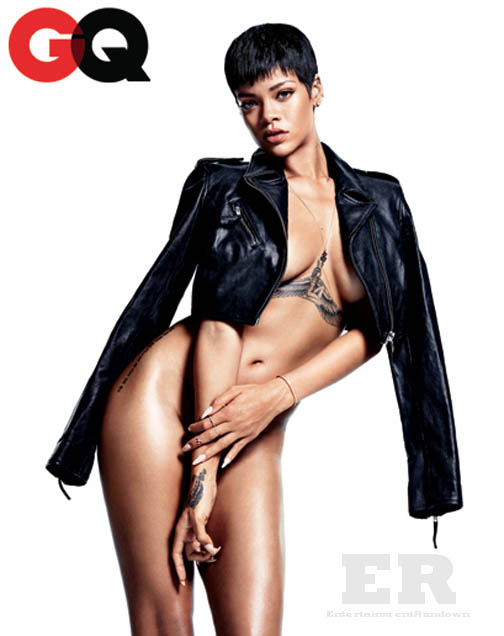Rihanna GQ December 2012 Spread 3 - Entertainment Rundown Nursing Symbol Design