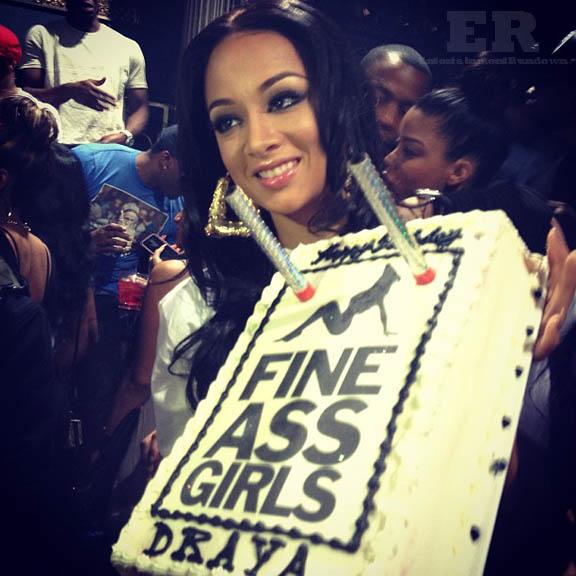 Draya Michele no pants birthday 6