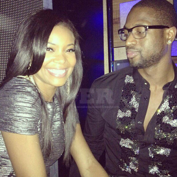 gabrielle union and dwyane wade celebrated the arrival of 2013 in