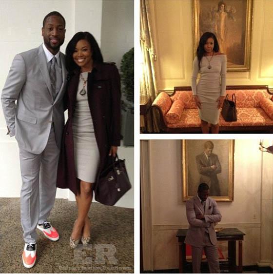 Gabrielle Union Dwyane Wade Heat White House ...