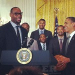 LeBron James President Obama Heat White House
