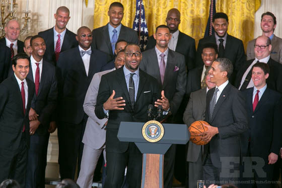 LeBron James President Obama Heat White House 2