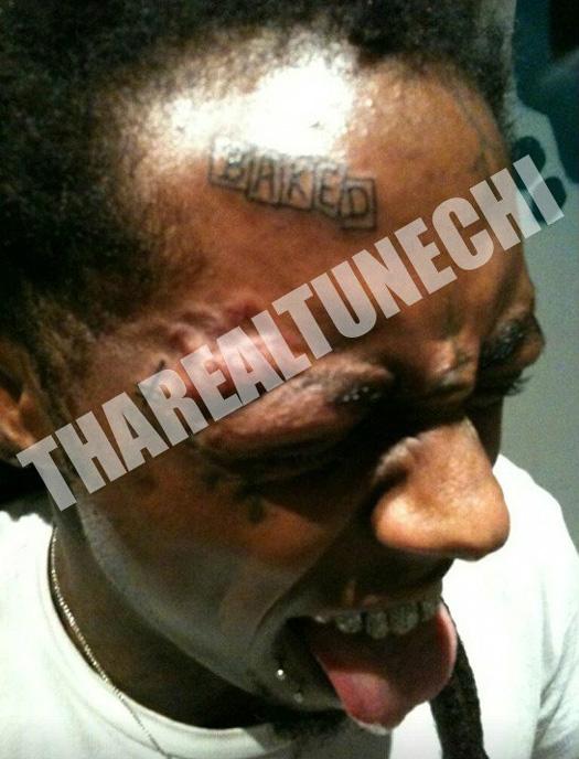 Lil Wayne Baked Face Tattoo