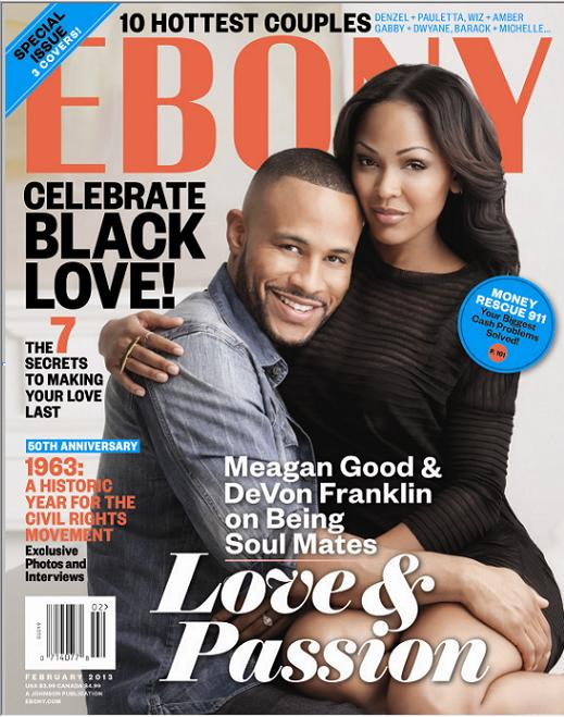 Meagan Good DeVon Franklin Ebony February 2013 Issue