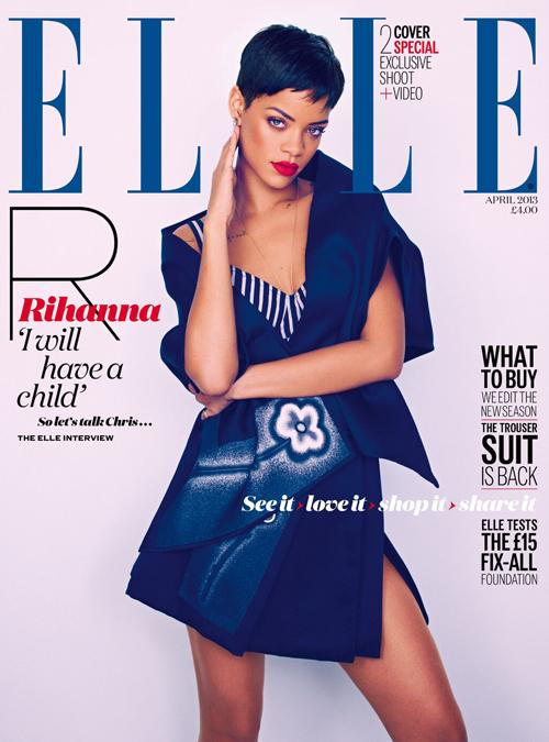 Rihanna Elle Uk Magazine April 2013 Cover 2
