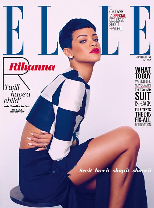 Rihanna Elle Uk Magazine April 2013 Cover 3a