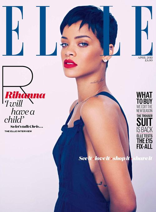Rihanna Elle Uk Magazine April 2013 Cover