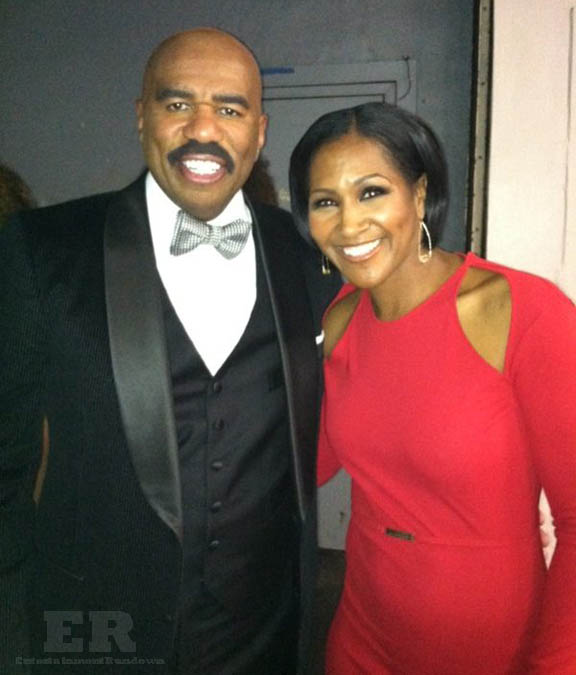 Steve Harvey Teri Vaughn NAACP 2013