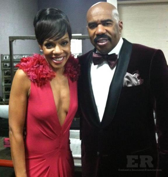 Steve Harvey Wendy Raquel Robinson NAACP 2013