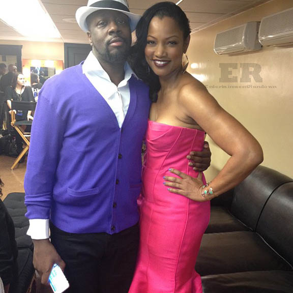 Wyclef Jean Garcelle Beauvais NAACP 2013