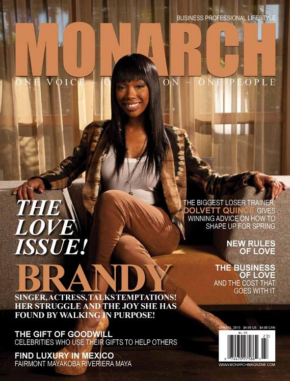 Brandy Monarch Magazine Cover