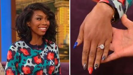 Brandy Show Off Engagement Ring Wendy Williams