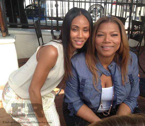 Jada Pinkett Smith Queen Latifah Talk Show wm