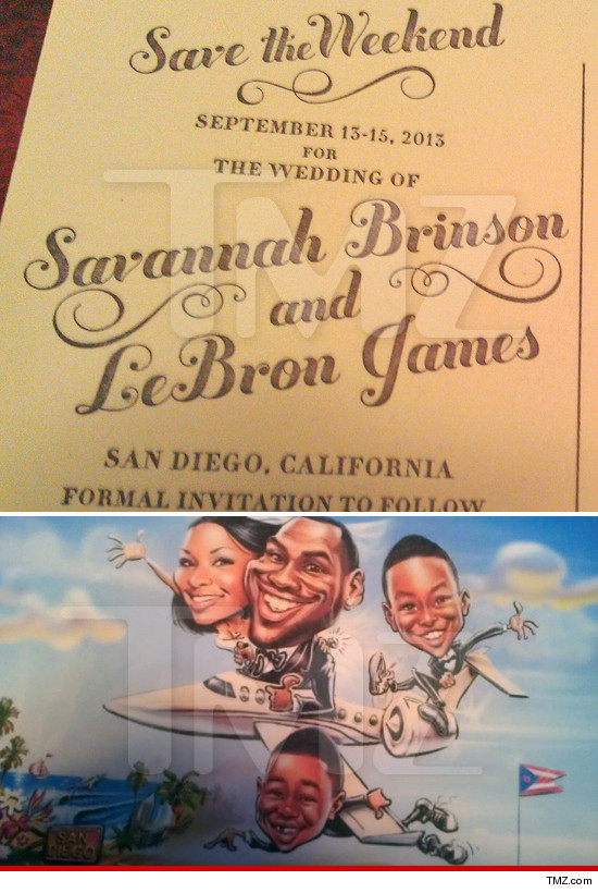 Lebron James Savannah Brinson Wedding Date