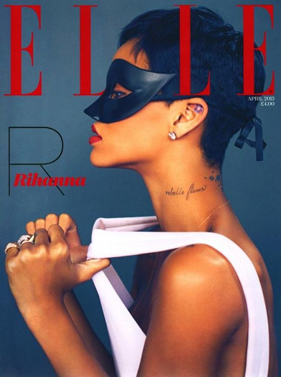 Rihanna hopes relationship with chris brown last forever for Elle magazine this month