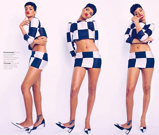 Rihanna Elle Uk Magazine April 2013 Spread 3