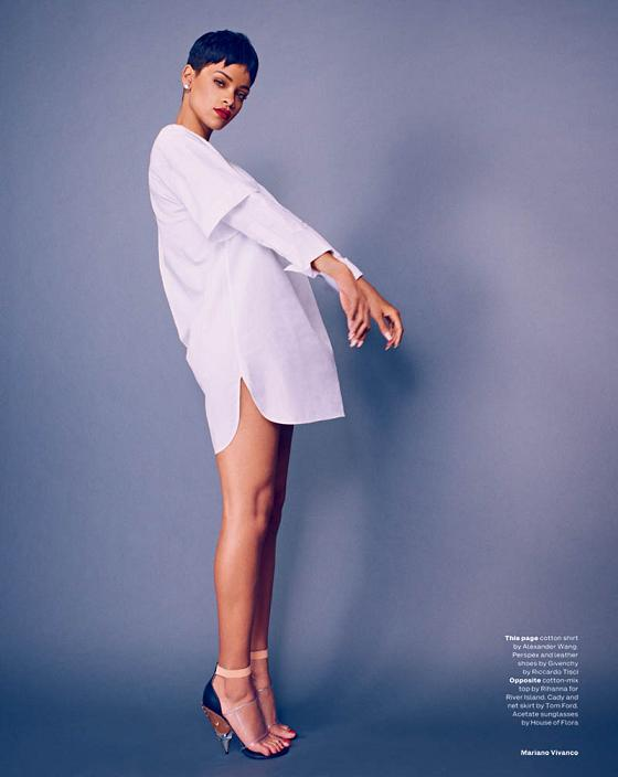 Rihanna Elle Uk Magazine April 2013 Spread 4