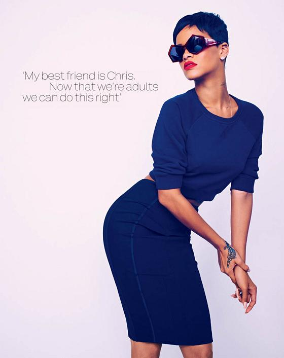 Rihanna Elle Uk Magazine April 2013 Spread 5