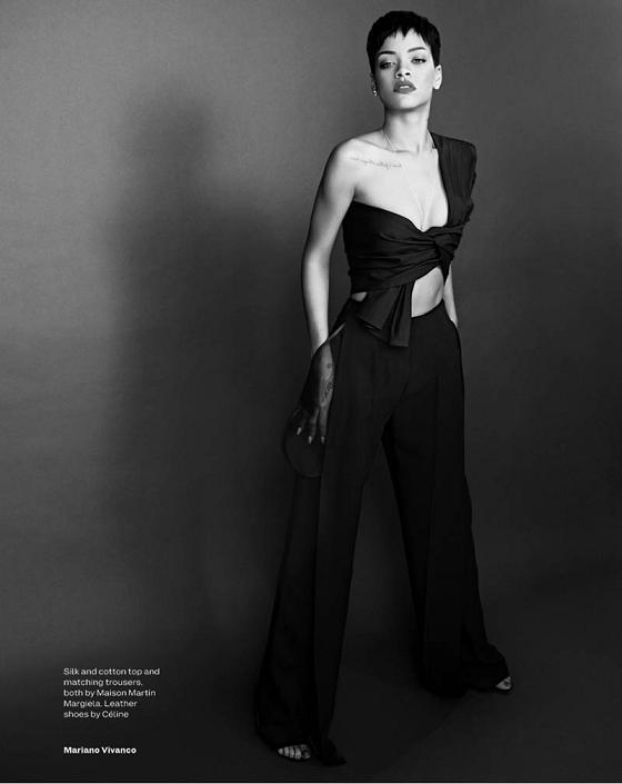Rihanna Elle Uk Magazine April 2013 Spread 6