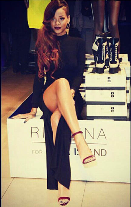 Rihanna River Island launch
