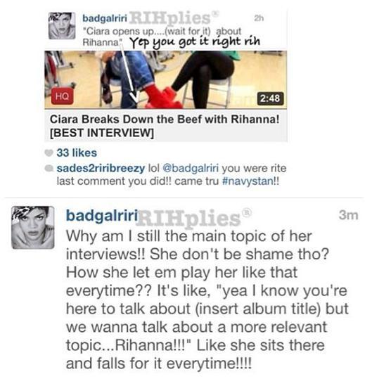 Rihanna Ciara Feud