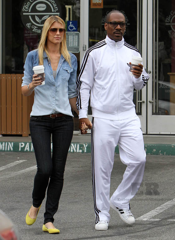 Eddie Murphy Takes Paige Butcher for a Coffee Date