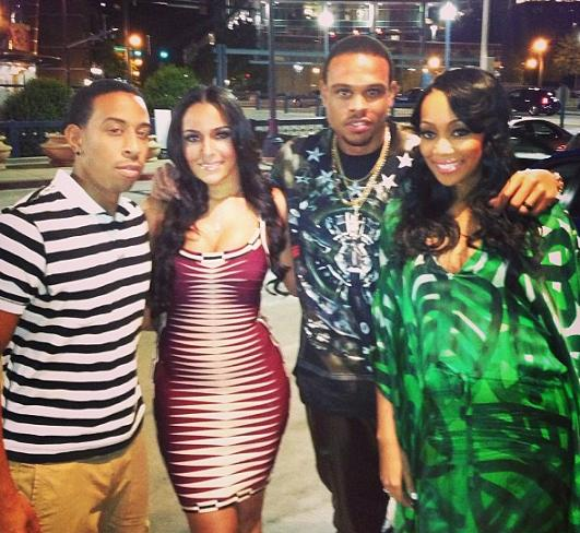 Monica Shannon Brown Eudoxie Ludacris Girlfriend Birthday