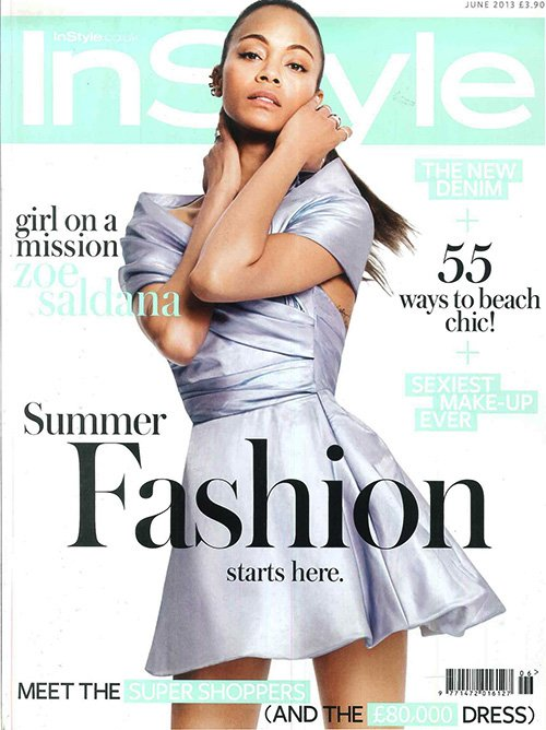 Zoe Saldana Instyle UK June 2013