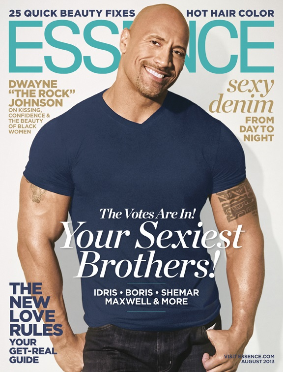 Dwayne The Rock Johnson Essence Magazine 2013
