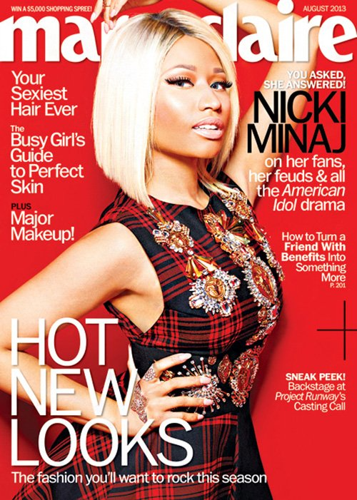 Nicki Minaj Marie Claire August 2013 Cover